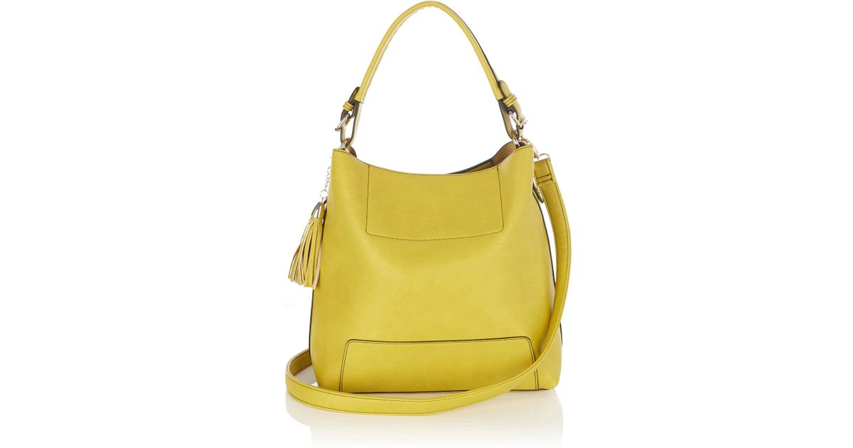 Oasis Holly Hobo Bag in Yellow | Lyst