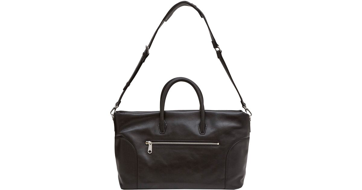 Marc By Jacobs Black Tony Weekender Leather Bag In For Men Lyst