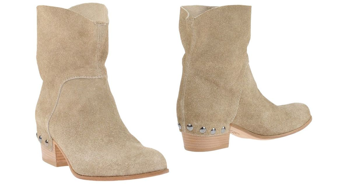 vic ankle boots in beige lyst