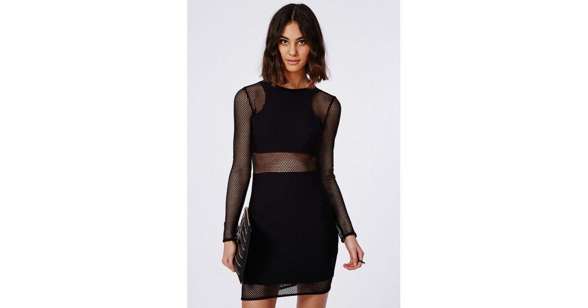 Black fishnet mini dress