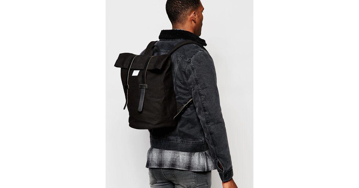 999fbde08a Lyst - Sandqvist Sonja Rolltop Backpack in Black for Men