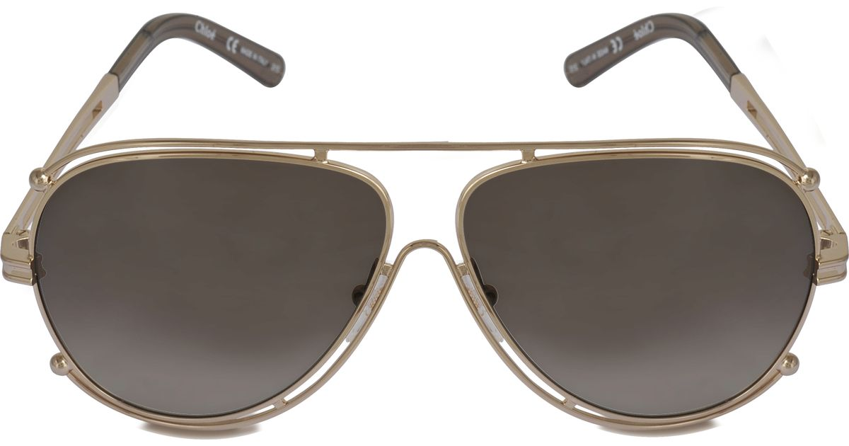 473f3f237813c Chloé Ce121s Isidora Sunglasses in Gold
