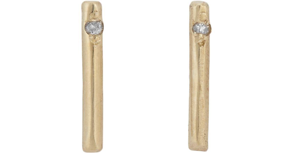 Loren Stewart Women S Diamond Amp Gold Small Rod Stud