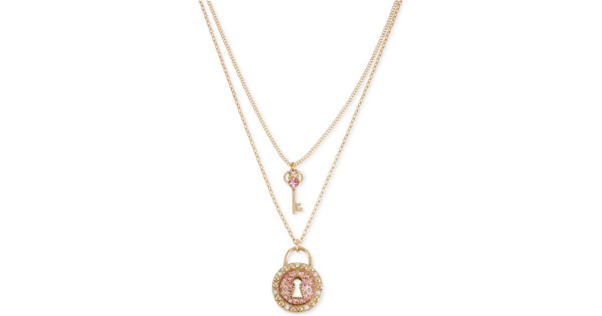 Key & Lock Necklace Set in Gold Frasier Sterling Outlet Supply bhYwYTX