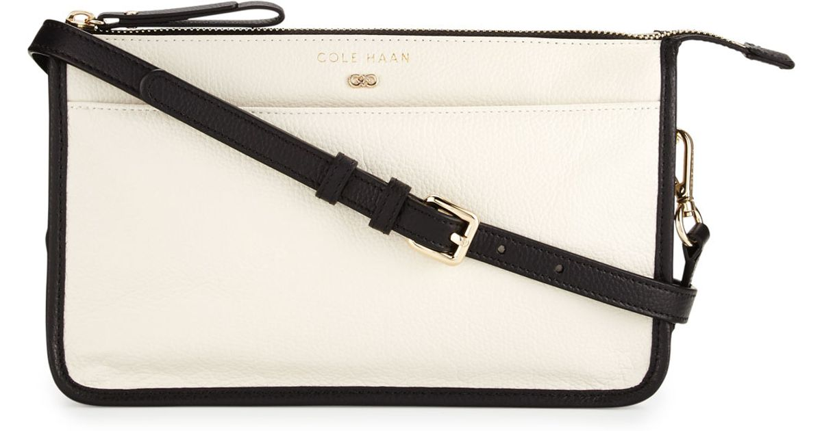 Lyst - Cole Haan Beckett Colorblock Leather Crossbody Bag in White