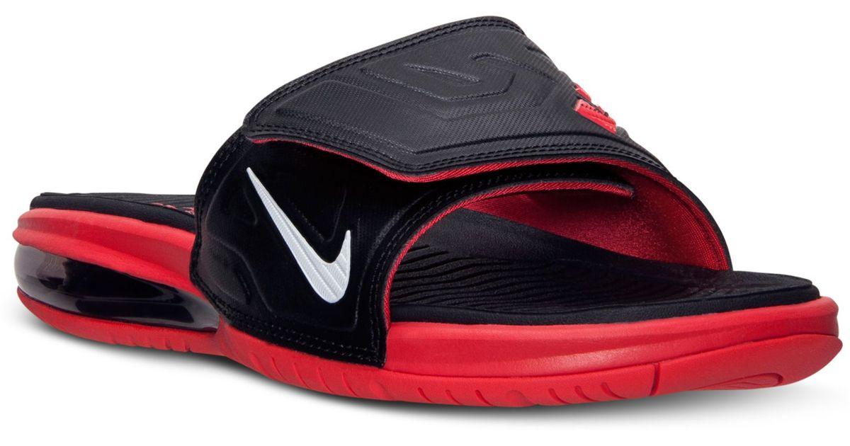new arrival 54890 279b9 Nike Mens Air Lebron 3 Elite Slide Sandals From Finish Line in Black for Men  - Lyst
