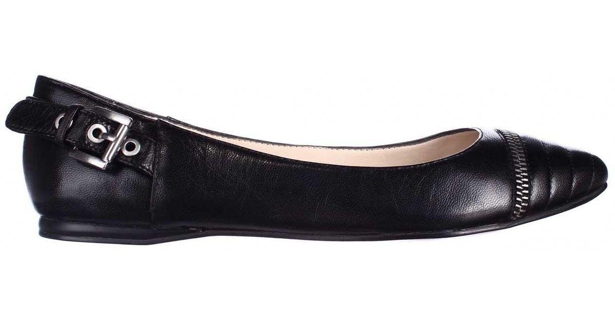 c7d7ab9dd3b6 Lyst - Nine West Savory Pointed-toe Ballet Flats in Black