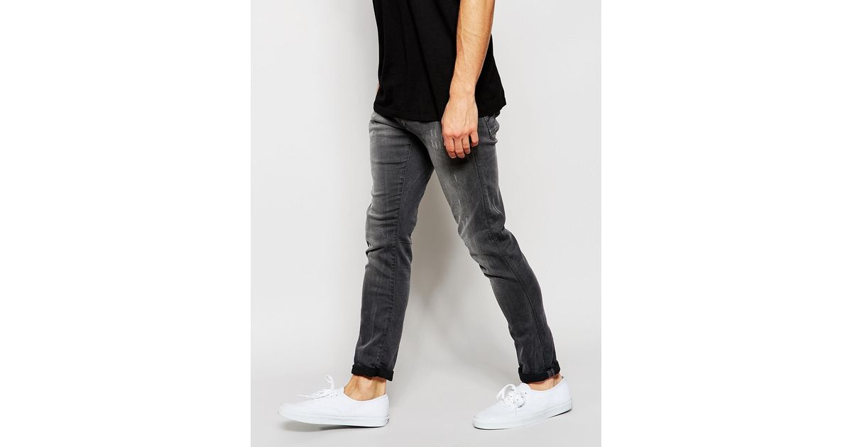 9f830934343c1 Lyst - G-Star Raw Jeans Defend Super Slim Skinny Fit Slander Grey  Superstretch Light Aged in Gray for Men