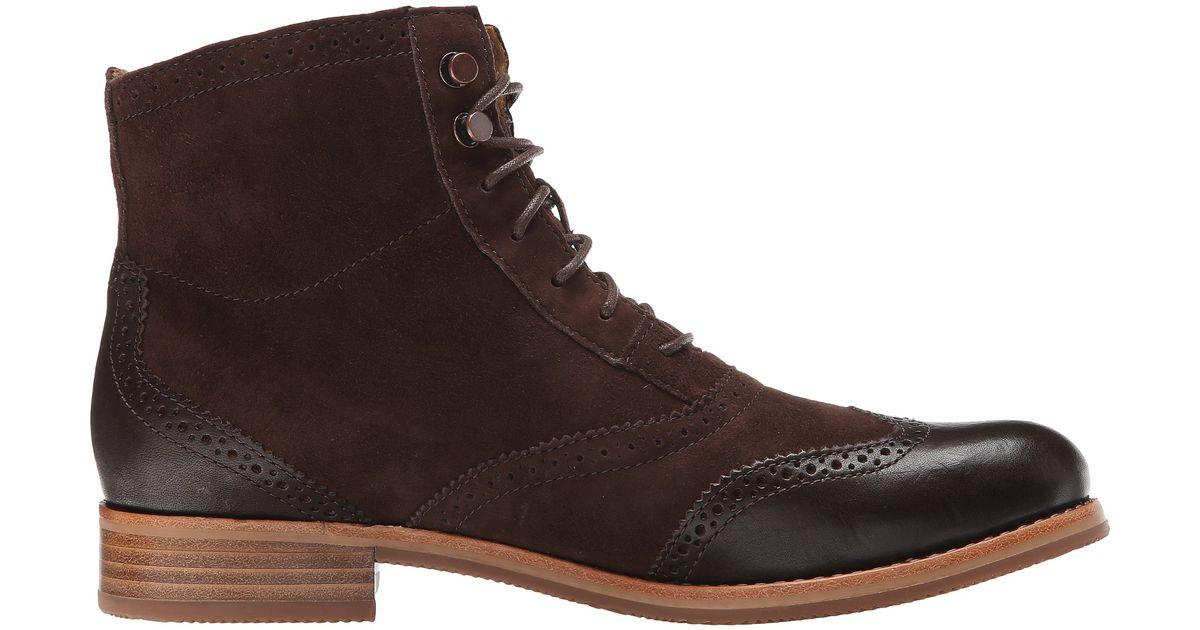 sebago claremont boot in brown brown suede lyst