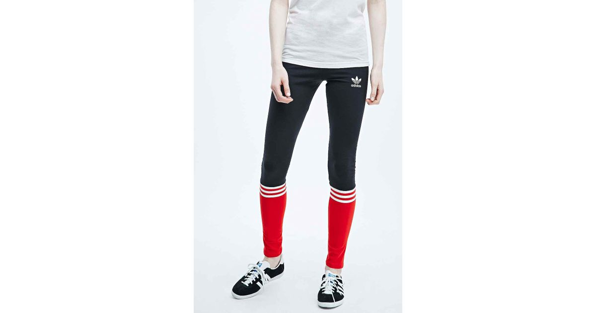 cab2c1cd9624b6 adidas Archive Leggings in Black and Red in Black - Lyst
