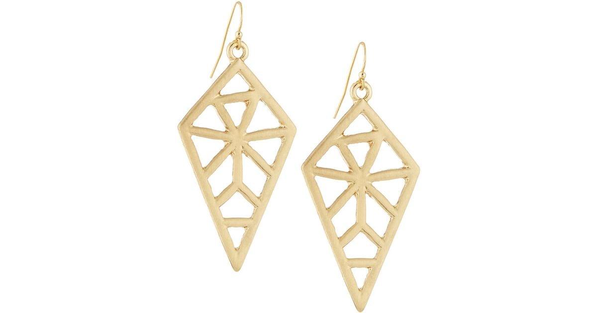 Panacea Geometric Drop Earrings QhIsNGC