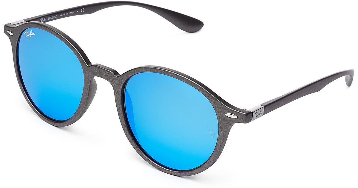 Ray-ban Rb4237 Round Sunglasses - Blue in Blue Lyst