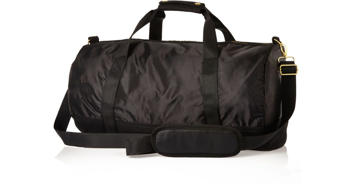 f529d0bd877e River Island Black Mipac Satin Mesh Duffle Bag in Black for Men - Lyst