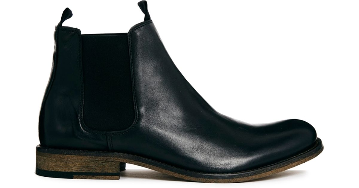selected homme melvin chelsea boots in black for men lyst. Black Bedroom Furniture Sets. Home Design Ideas