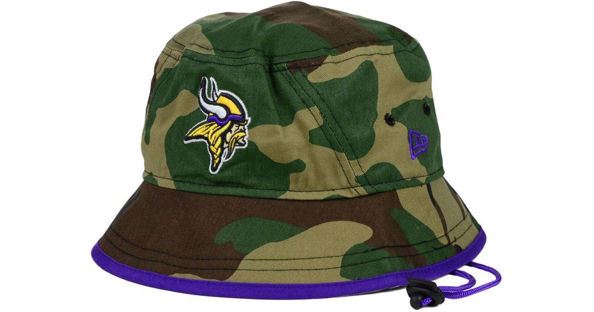 2fdfcfb7b KTZ Minnesota Vikings Camo Pop Bucket Hat in Green for Men - Lyst