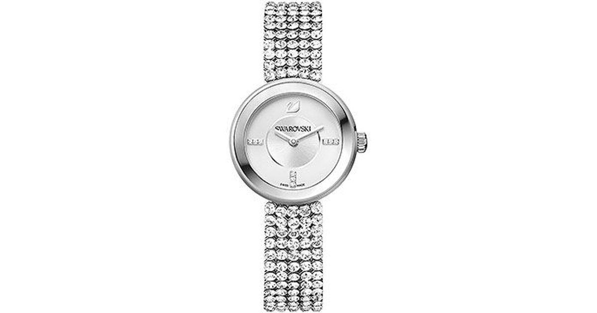 dc149911e250 Lyst - Swarovski Piazza Mini Mesh Watch in Metallic