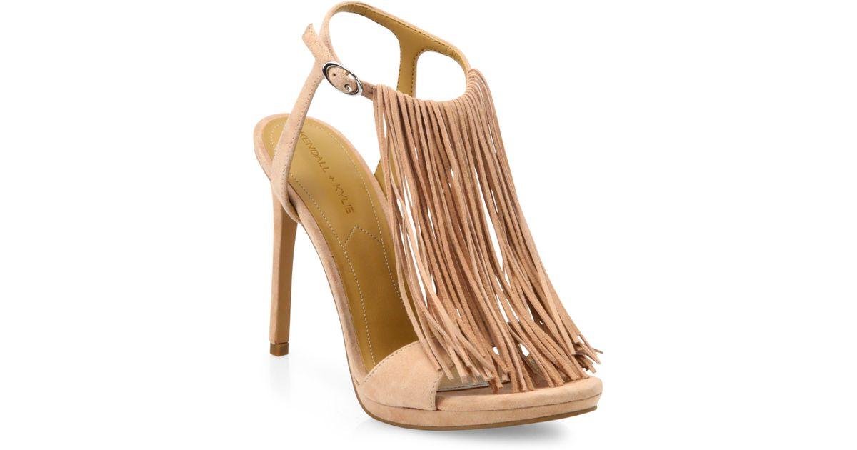 2458891972e Kendall + Kylie - Pink Aries Tassel Suede Sandals - Lyst