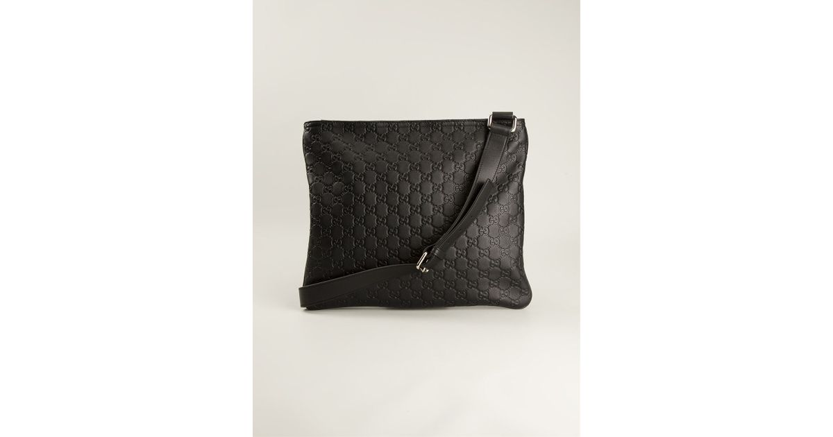 Lyst - Gucci Monogram Messenger Bag in Black for Men e2888869eb