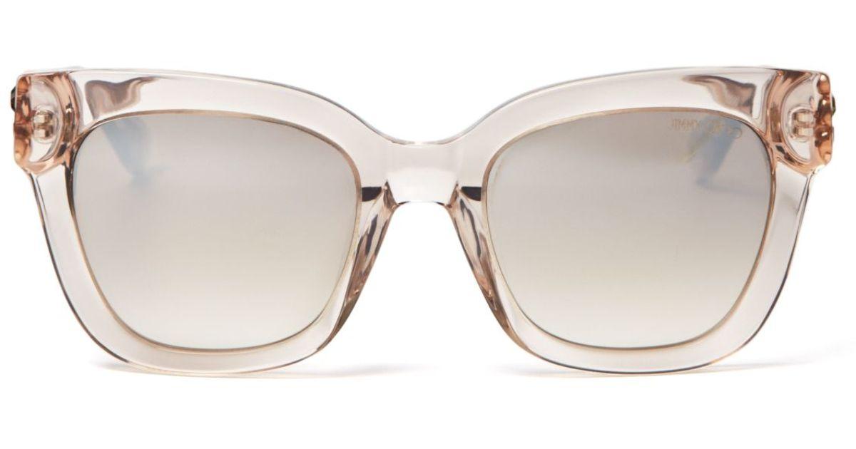 9408fbea0e Jimmy Choo - Gray Maggie Mirrored Sunglasses - Lyst