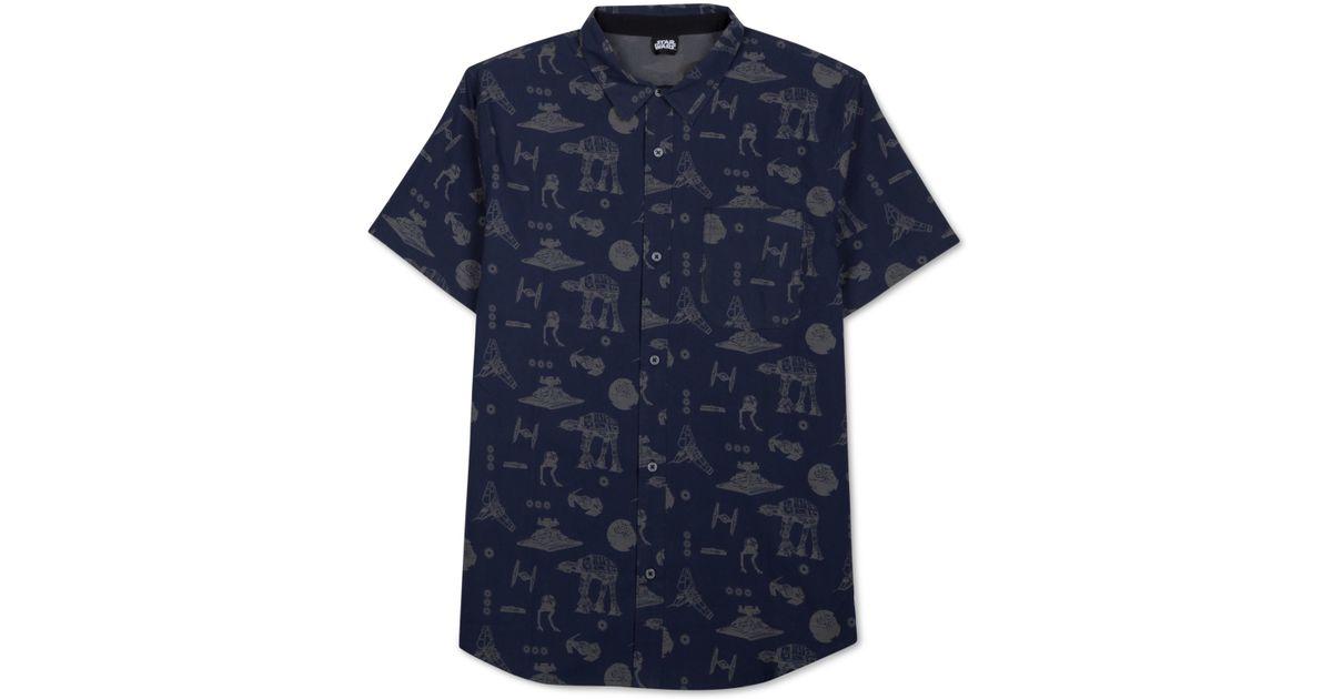 Jem Star Wars Men's Mechanical Print Short-sleeve Shirt in ...