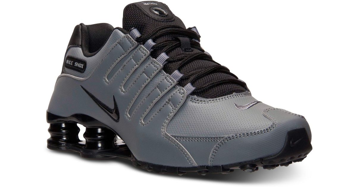 promo code 357b0 02f4d Lyst - Nike Men S Shox Nz Running Sneakers From Finish Line in Gray for Men