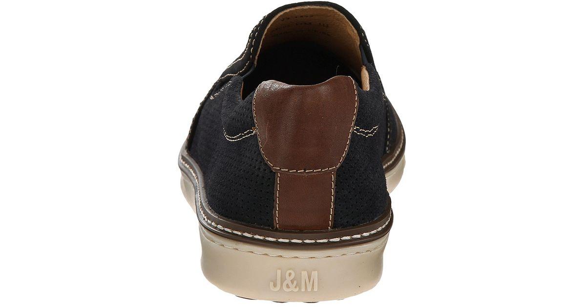 Johnston Amp Murphy Mcguffey Perfed Slip On In Blue For Men