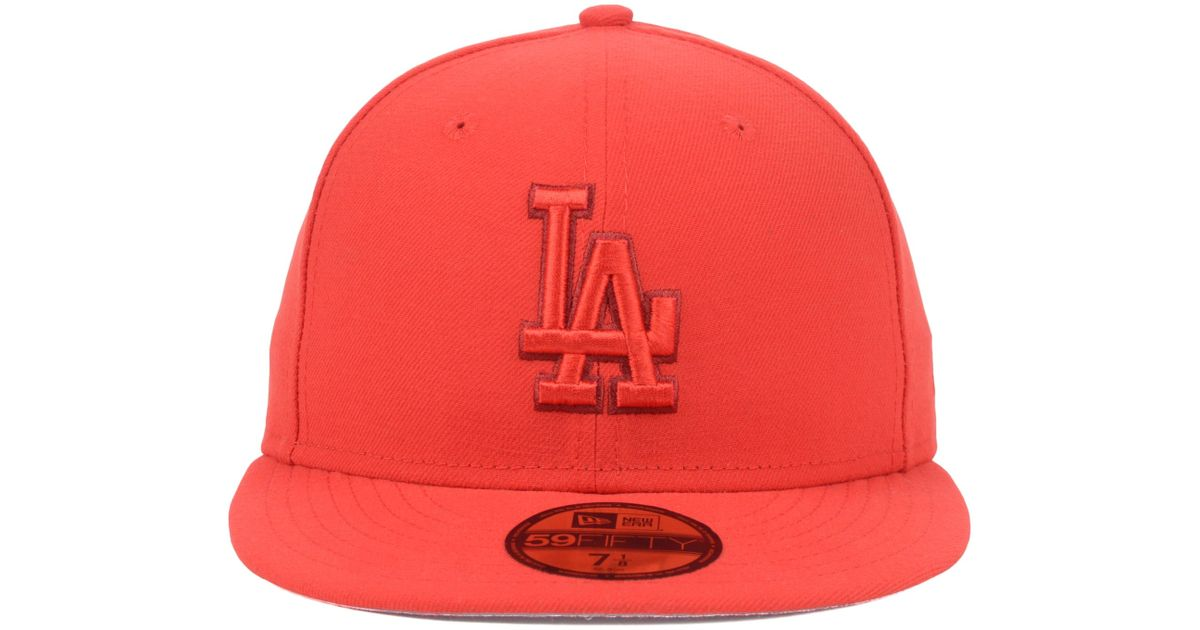 best service 37012 22338 ... 50% off lyst ktz los angeles dodgers mlb pop tonal 59fifty cap in red  for