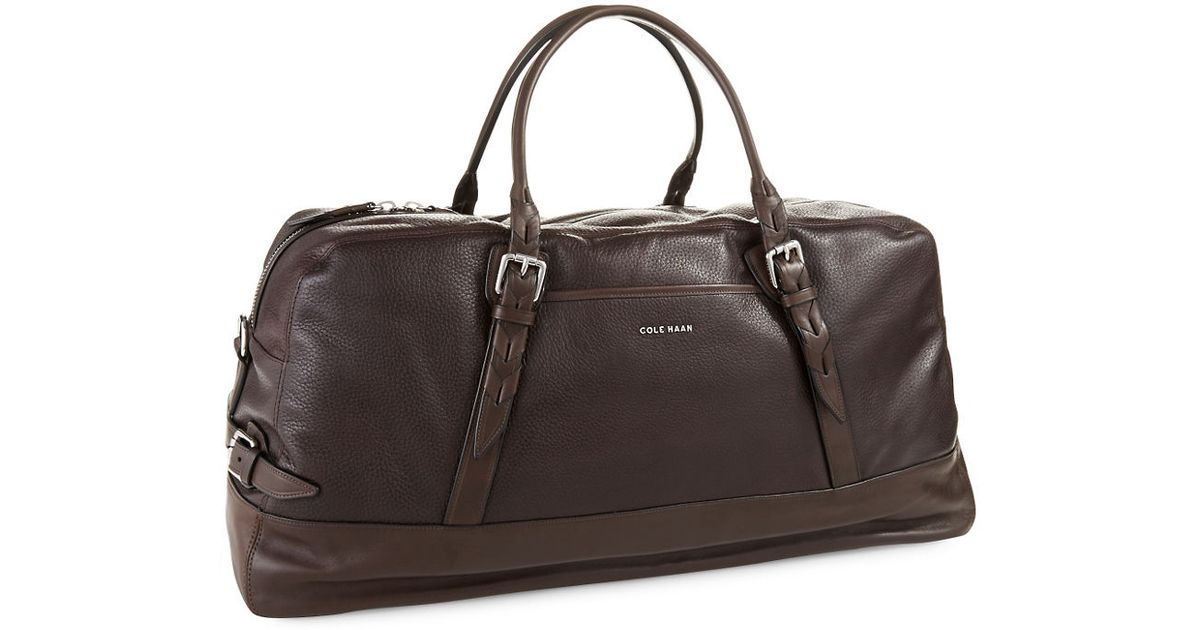 Lyst - Cole Haan Vegan Leather Duffle Bag in Brown for Men e10e7c943ada5