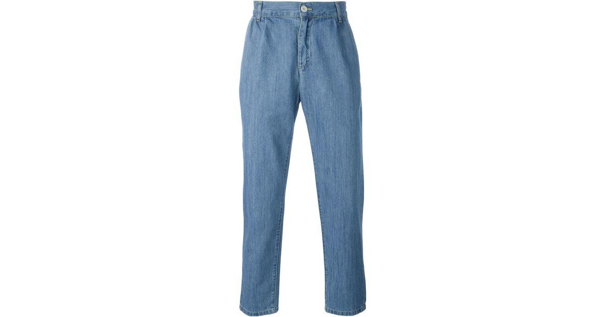 etudes studio loose fit jeans in blue lyst. Black Bedroom Furniture Sets. Home Design Ideas