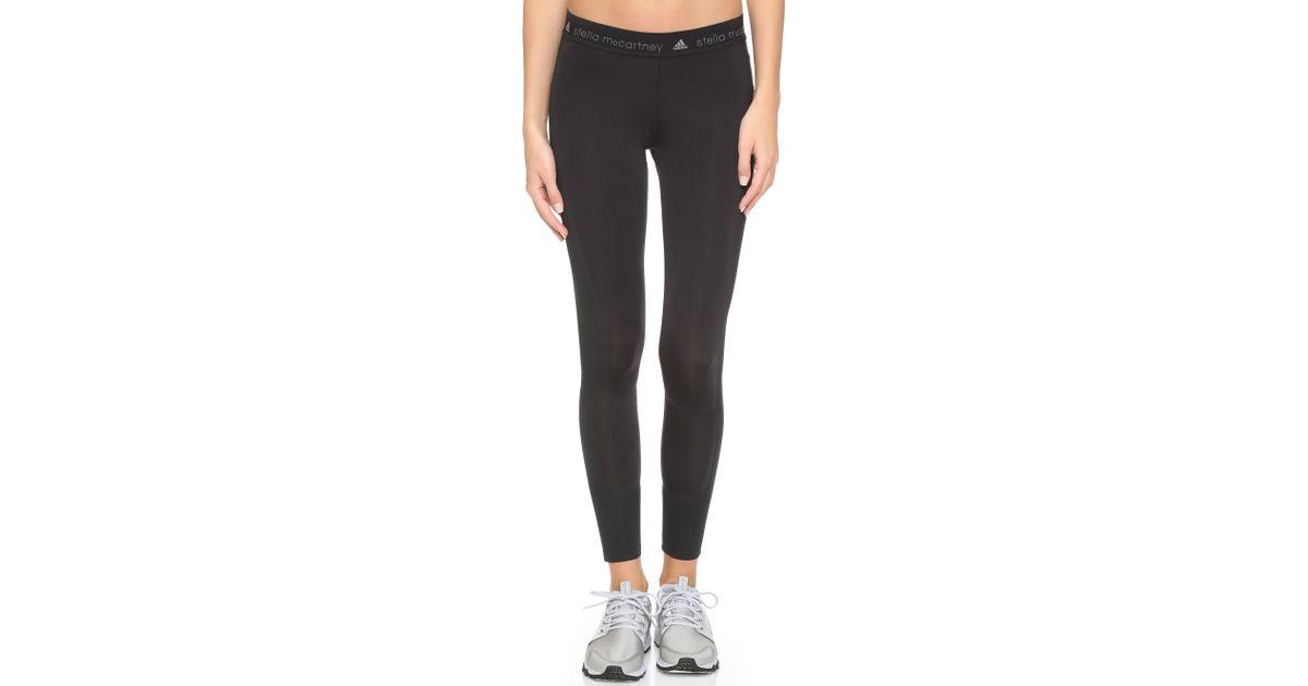 Adidas Von Stella McCartney Black Run Adizero Leggings Lyst