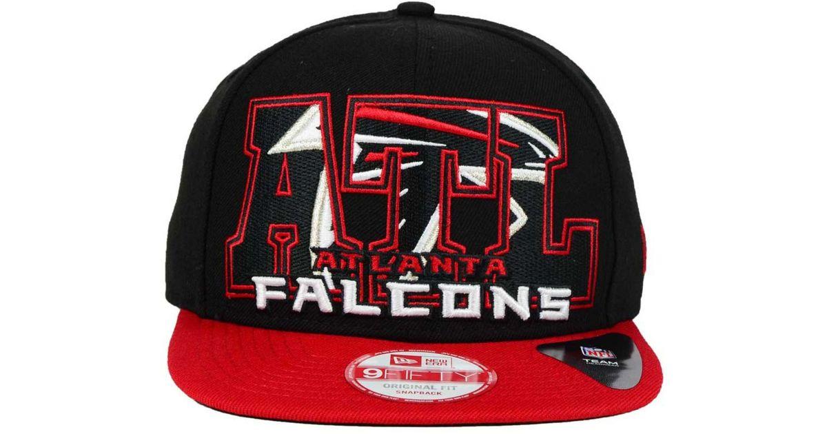 Lyst - KTZ Atlanta Falcons Big City 9fifty Snapback Cap in Black for Men 005b5dbf1
