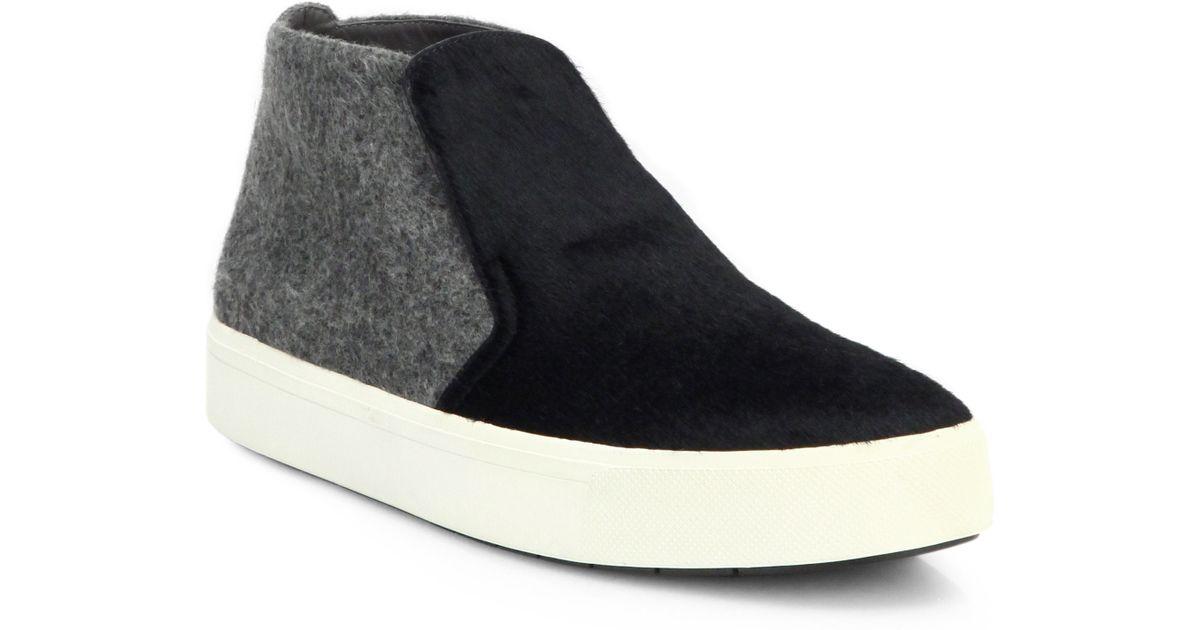 Lyst - Vince Beck-2 Calf Hair   Fabric Skate Shoes in Black 831189cb2e8b