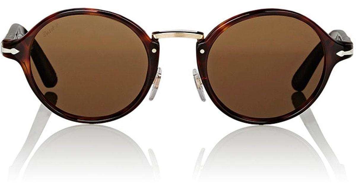 Persol Round Sunglasses in Black for Men   Lyst 608a270f6fc6