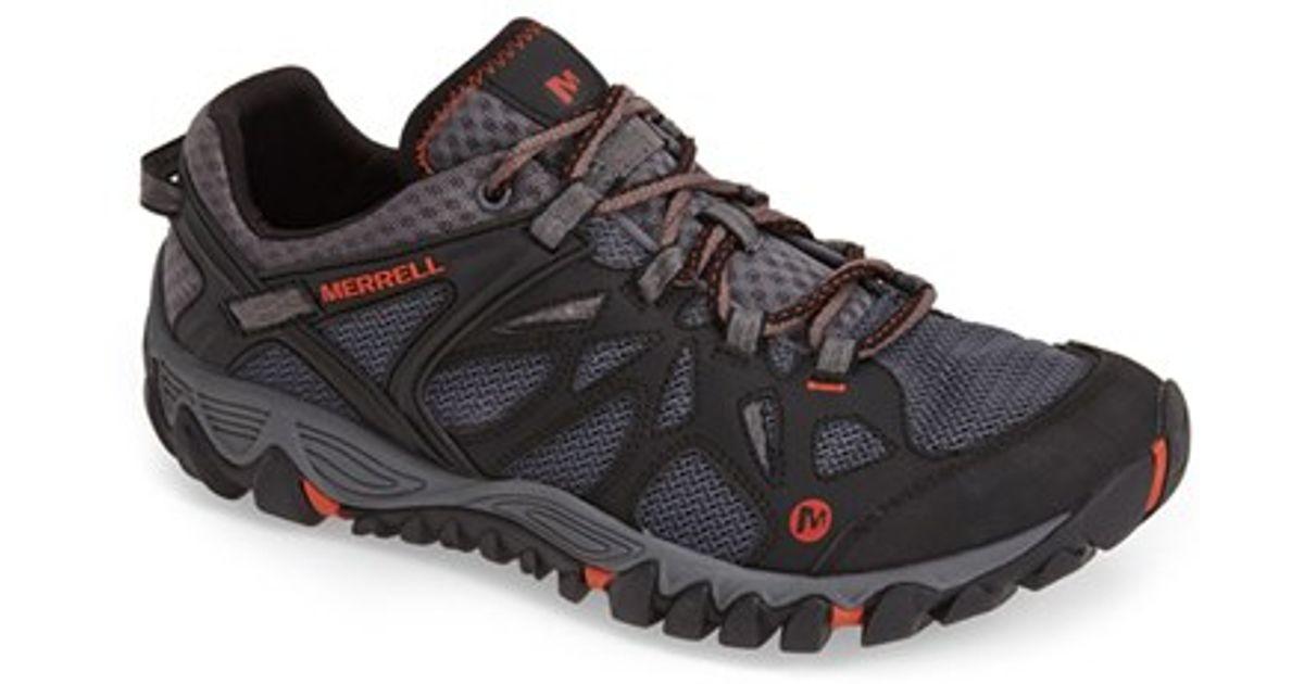 merrell all out blaze aero sport hiking shoe in black