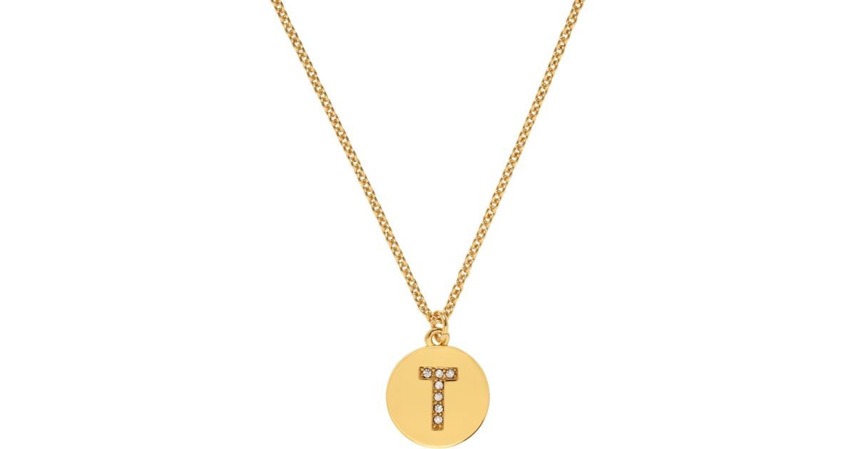 kate spade new york pave initial pendant in metallic lyst