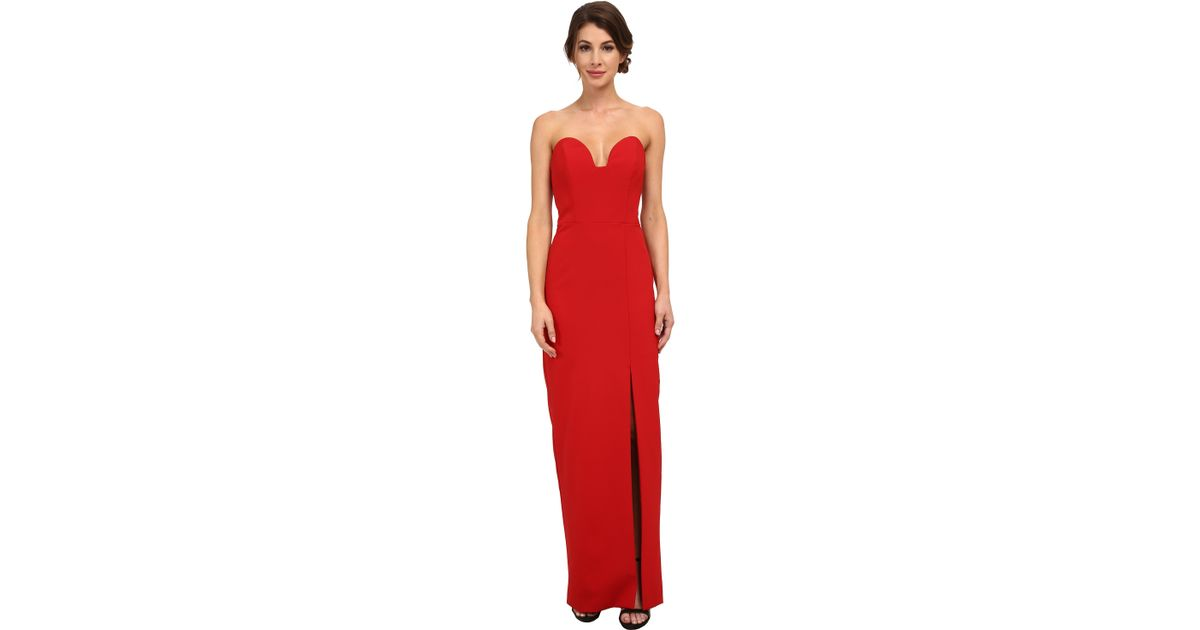 Lyst - Nicole Miller Casey Bustier Gown in Red