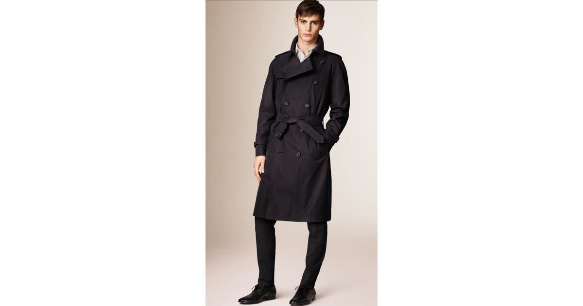 Burberry The Westminster – Long Heritage Trench Coat Navy ...