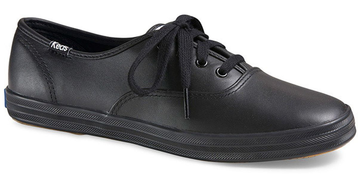 d077b7bd9f6 Lyst - Forever 21 Keds Champion Originals Leather Sneakers in Black