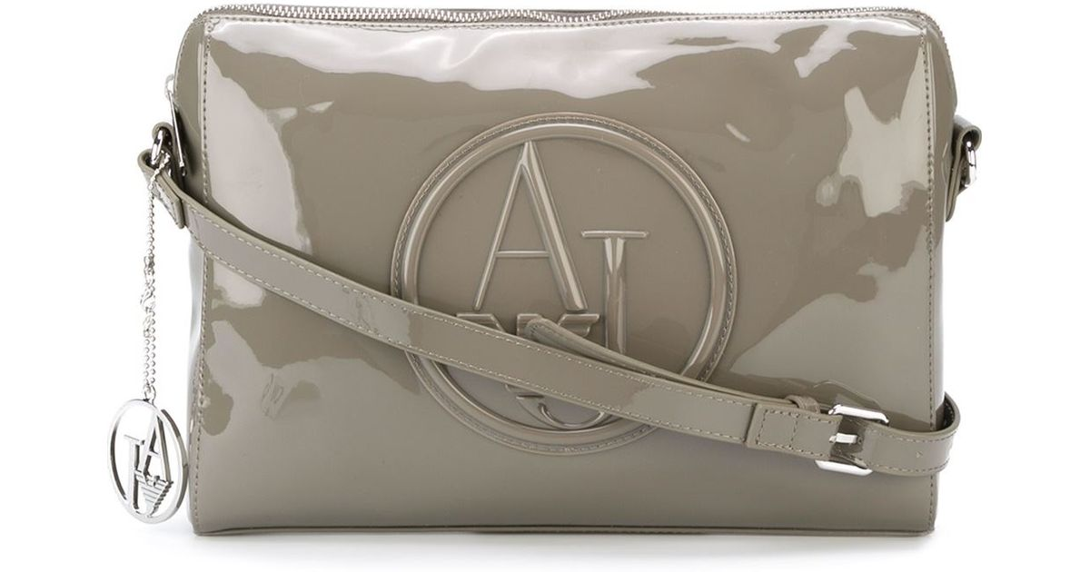Armani Jeans Embossed Logo Cross Body Bag in Brown - Lyst a883baf202