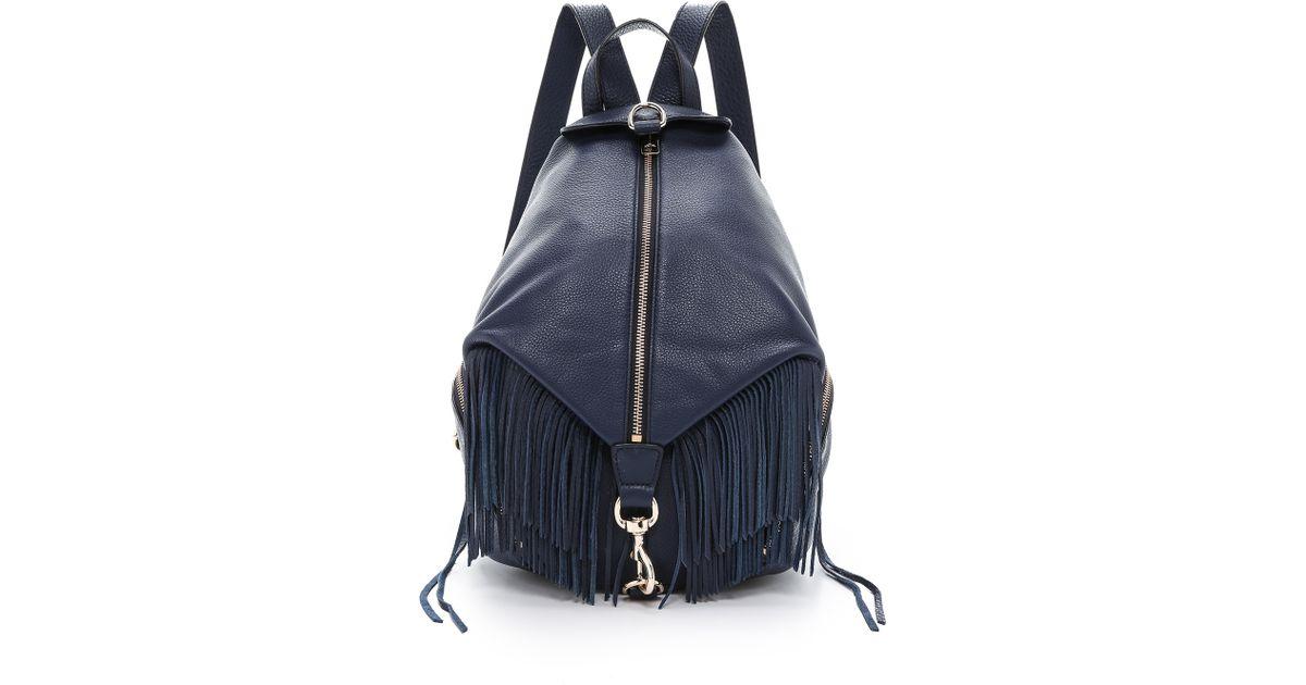 32350f3da Rebecca Minkoff Julian Backpack With Fringe - Moon in Blue - Lyst