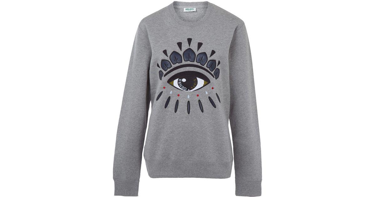 aca38f8d5 KENZO Grey Big Eye Sweatshirt in Gray for Men - Lyst