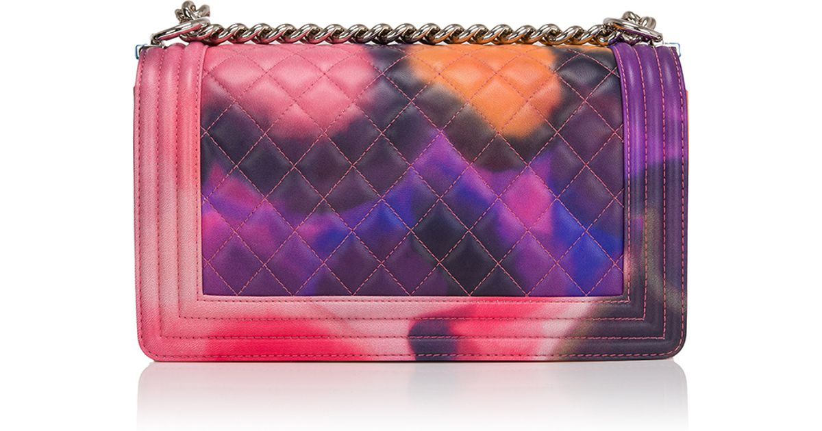 f249cbe17e05 Lyst Madison Avenue Couture Runway Edition Chanel Flower Power Um Boy Bag  In Pink