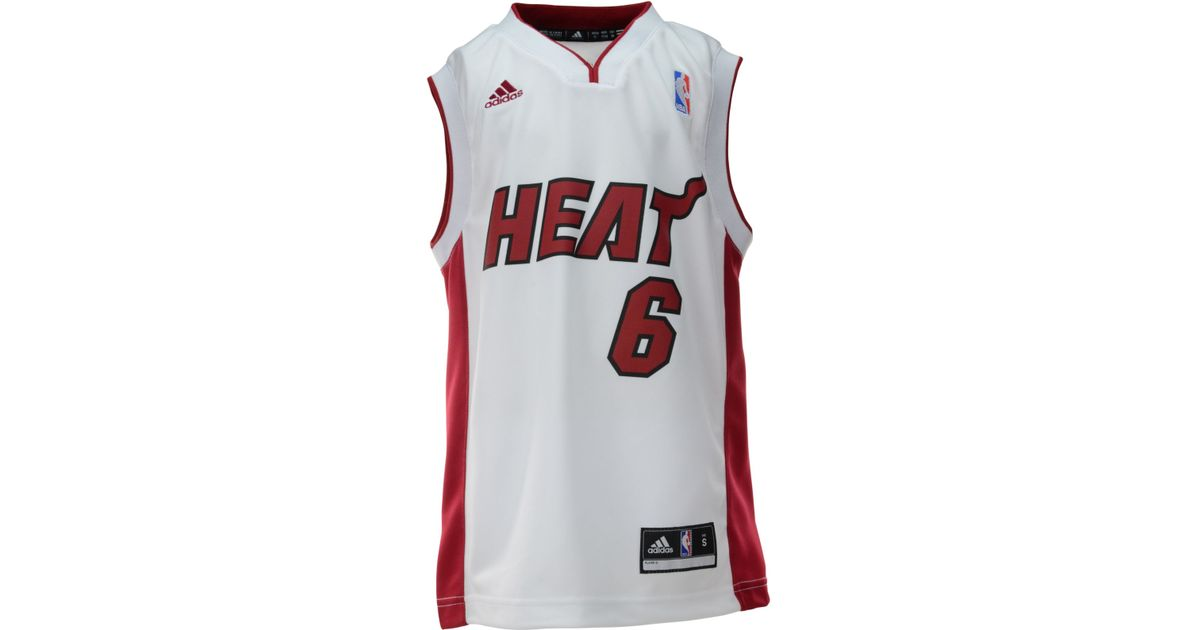 5bac472e2d0 Lyst - adidas Boys  Lebron James Miami Heat Nickname Replica Jersey in White  for Men