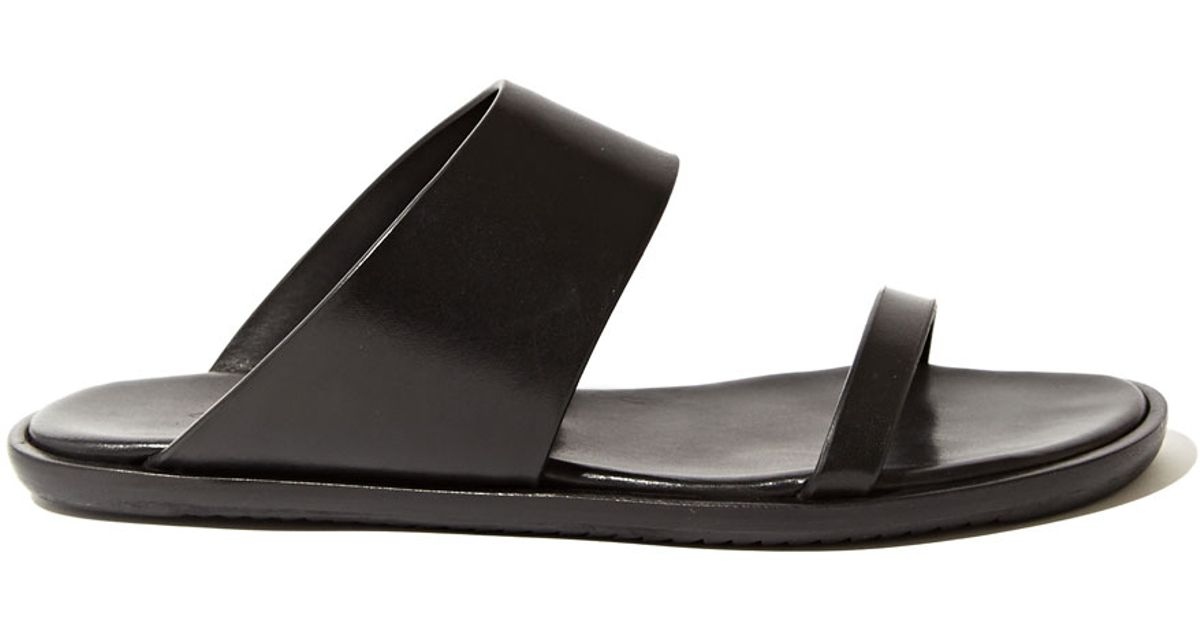 d74b41717282 Lyst - Rick Owens Women S Leather Strap Sandals in Black