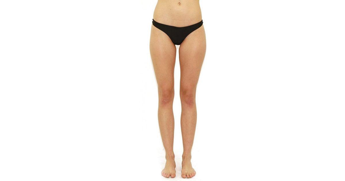 f32ef5c9963f2 Lyst - Mikoh Swimwear Lahaina Extra Skimpy Bottom In Night in Black