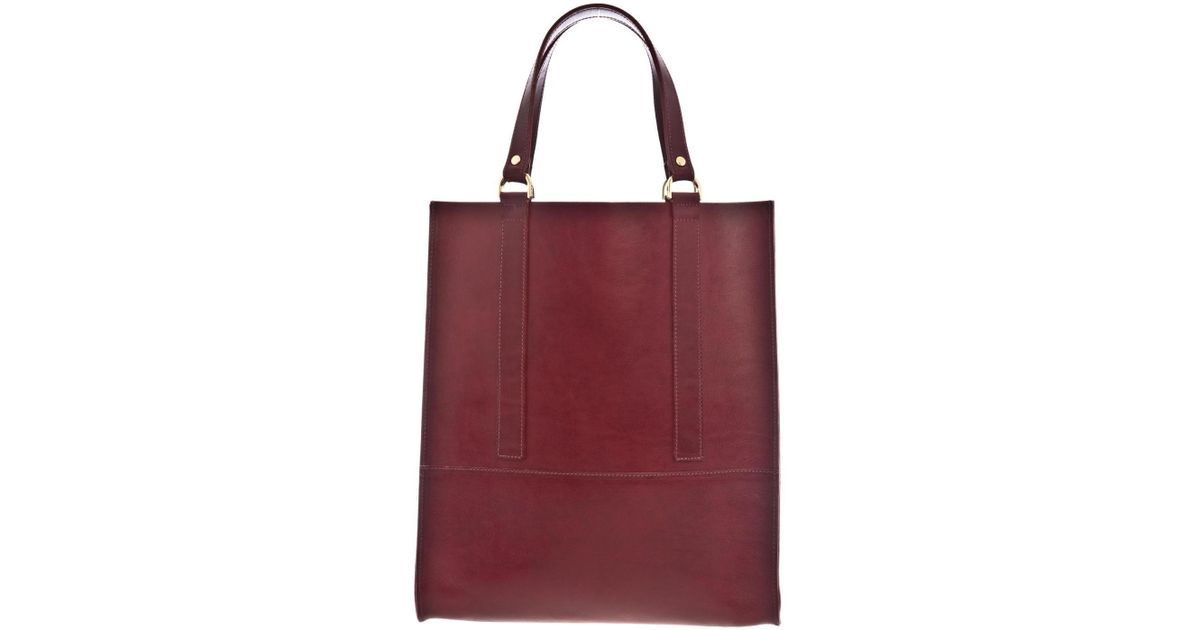Danielle foster Kelly Burgundy Leather Tote Bag in Purple | Lyst