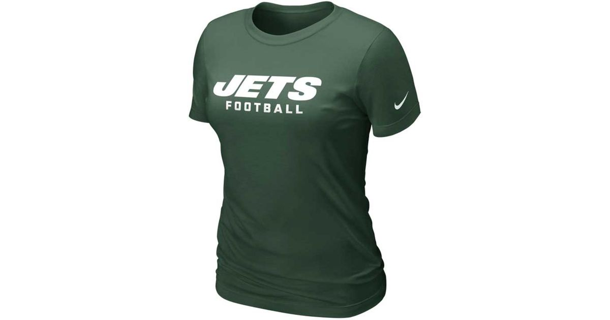 Lyst - Nike Women s Short-sleeve New York Jets Dri-fit T-shirt in Green 7cfec3082