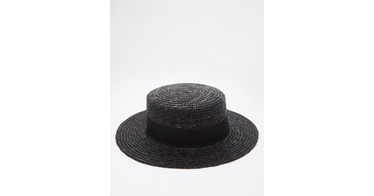 1e151153e74cd ... 7 hats to boost your street style boater black. Lyst Asos Straw Boater  In Black For Men