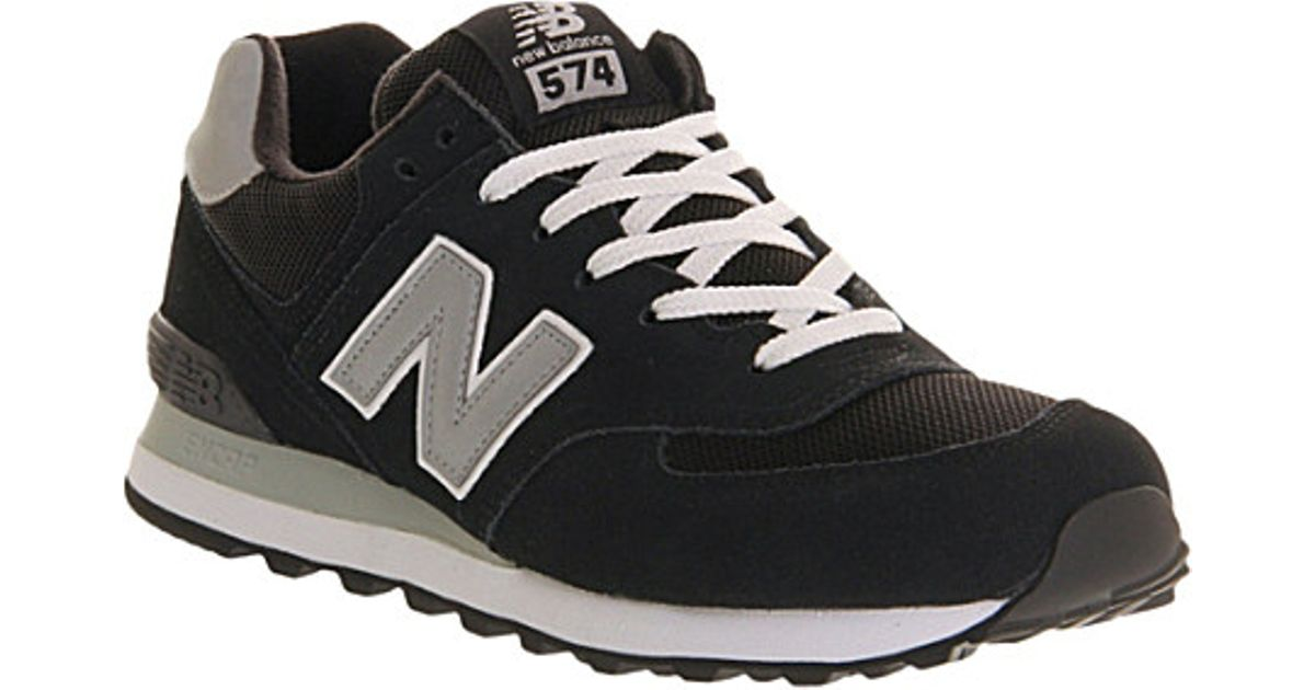big sale 7a984 2932f ... discount new balance 574 suede trainers for men in black for men lyst  519c6 a7847