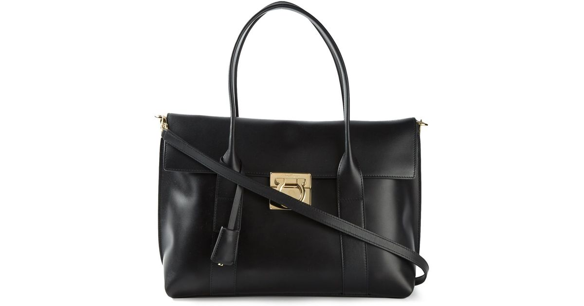 bc39dad92924 Lyst - Ferragamo  Sookie  Tote in Black
